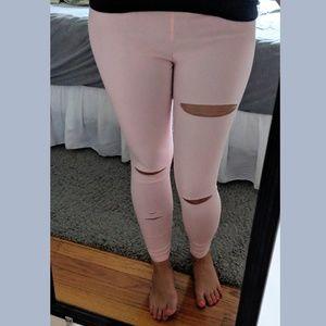 Pants - Blush Distressed Stretch Pant Jeggings